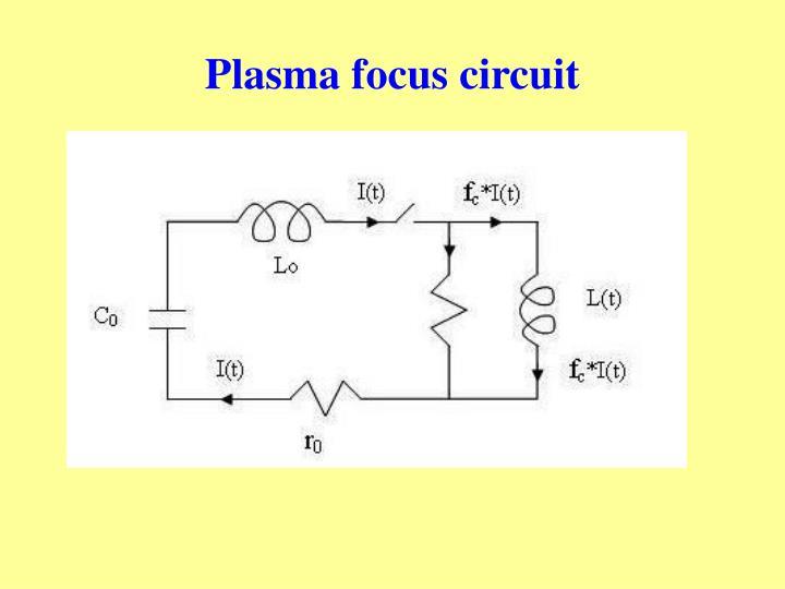 Plasma focus circuit