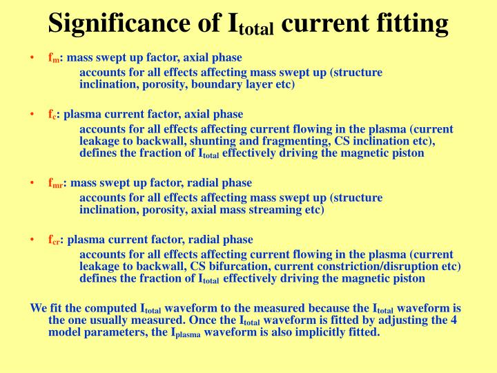 Significance of I