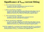 significance of i total current fitting