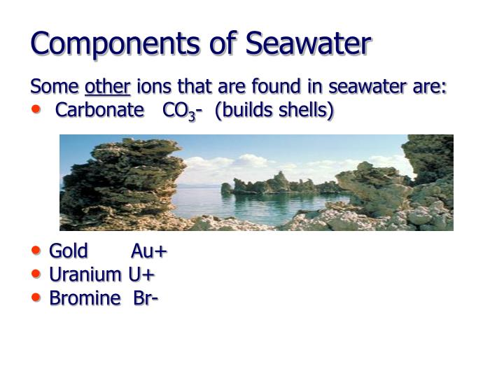 Components of Seawater