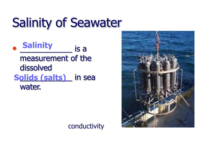 Salinity of Seawater
