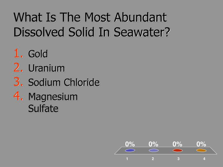 What Is The Most Abundant Dissolved Solid In Seawater?