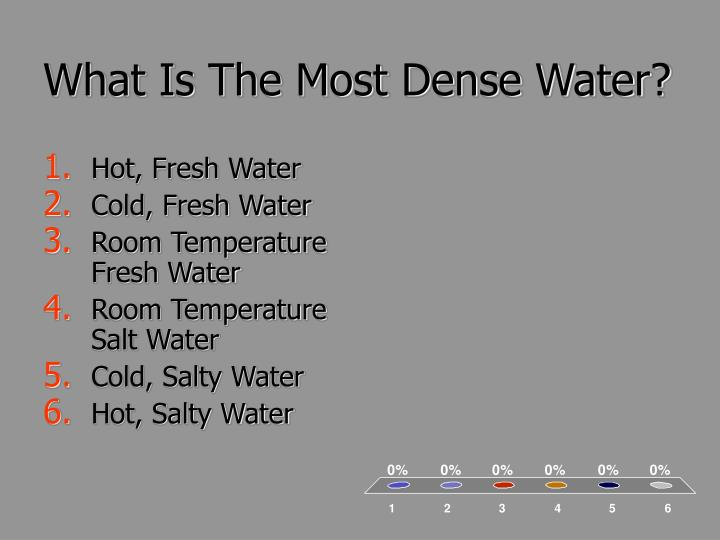 What Is The Most Dense Water?
