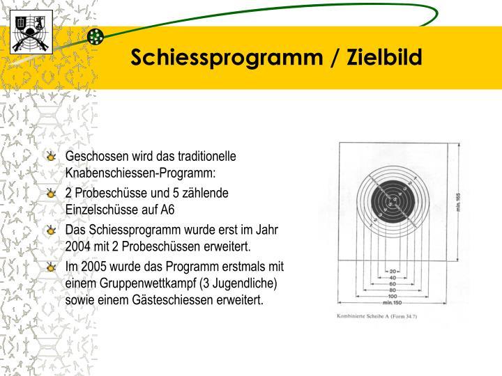 Schiessprogramm / Zielbild