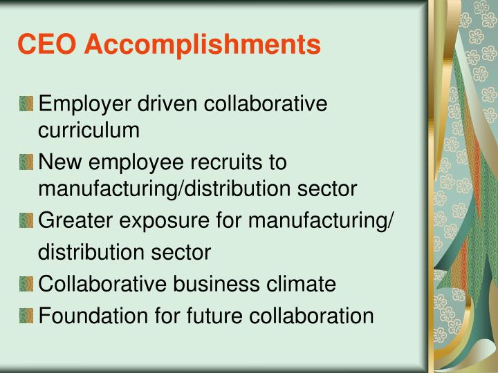 CEO Accomplishments