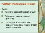 grow partnership project
