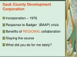 sauk county development corporation
