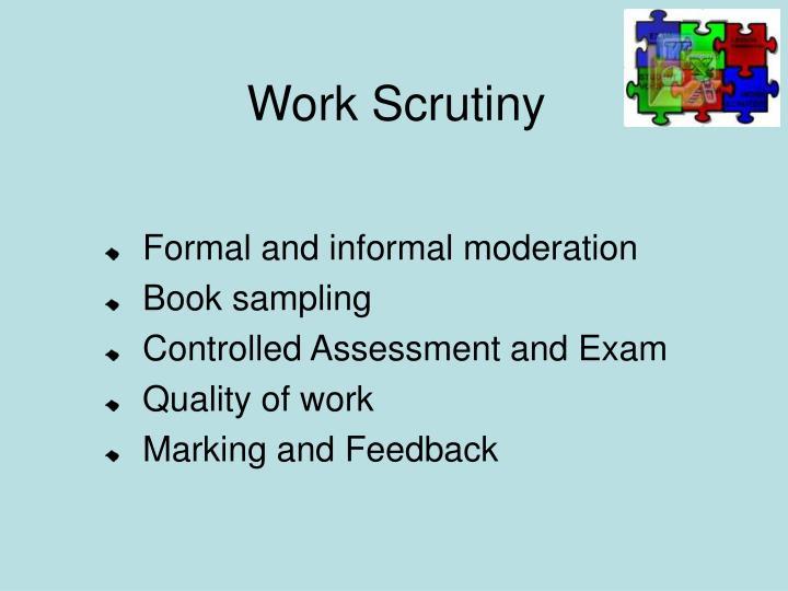 Work Scrutiny