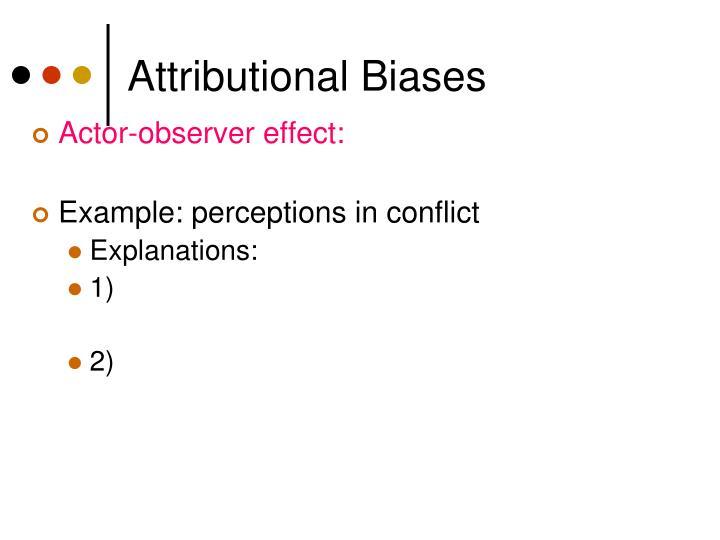 Attributional Biases