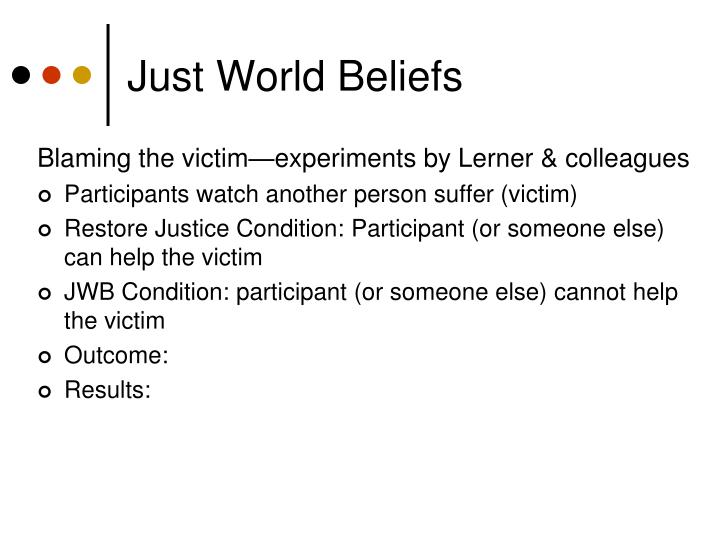 Just World Beliefs