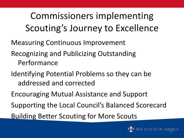 Commissioners implementing