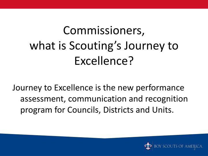 Commissioners what is scouting s journey to excellence