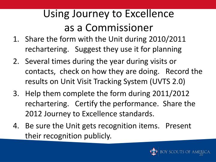 Using Journey to Excellence