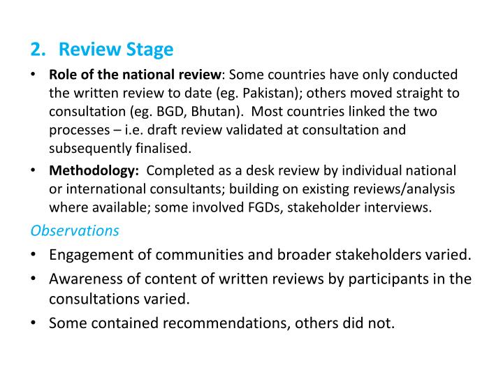 Review Stage