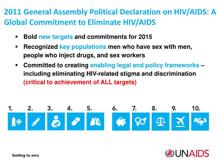 2011 General Assembly Political Declaration on HIV/AIDS: A Global Commitment to Eliminate HIV/AIDS