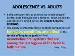 adolescence vs adults