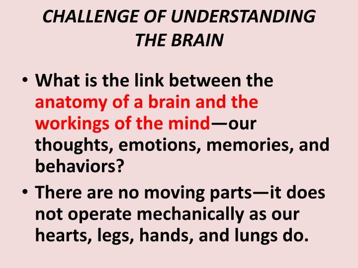 CHALLENGE OF UNDERSTANDING