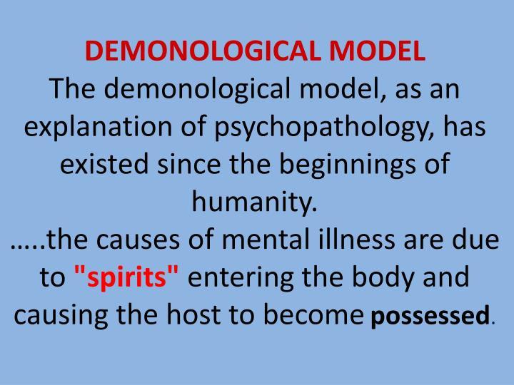 DEMONOLOGICAL MODEL