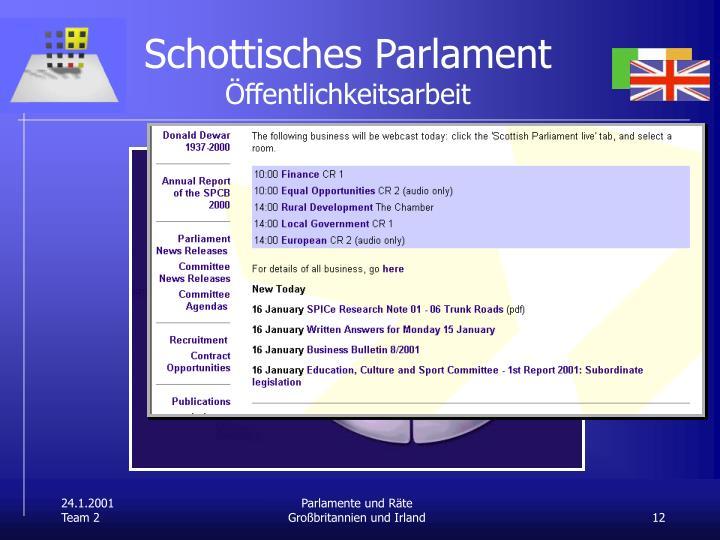 Schottisches Parlament