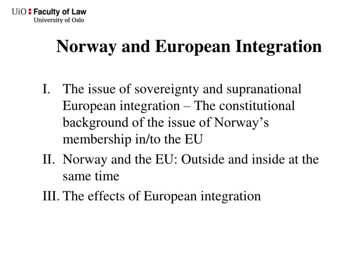 Constitutional law and european integration
