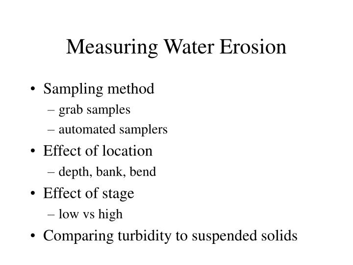 Measuring Water Erosion