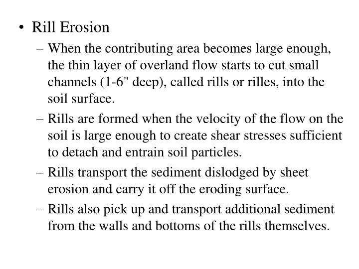 Rill Erosion