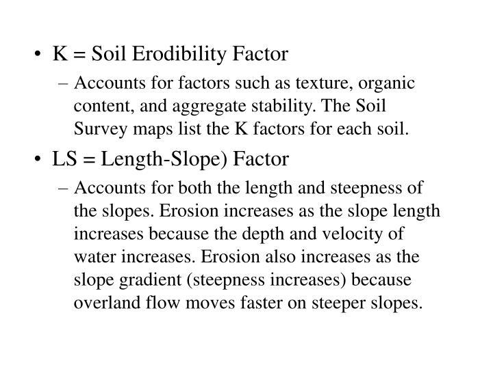 K = Soil Erodibility Factor
