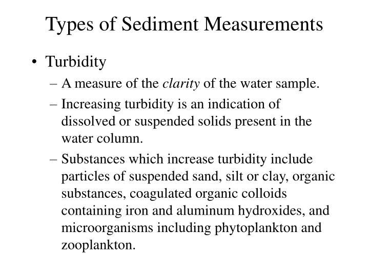 Types of Sediment Measurements