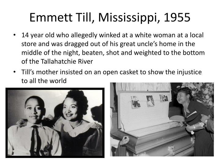 Emmett Till, Mississippi, 1955
