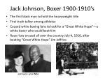 jack johnson boxer 1900 1910 s