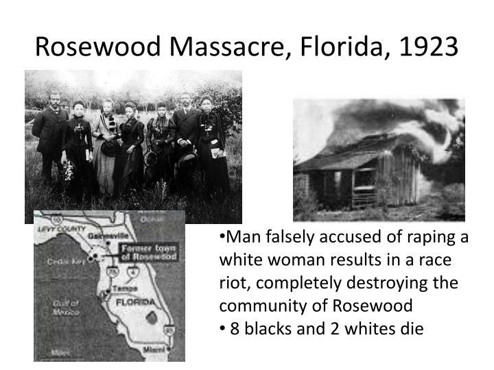 Rosewood Massacre, Florida, 1923