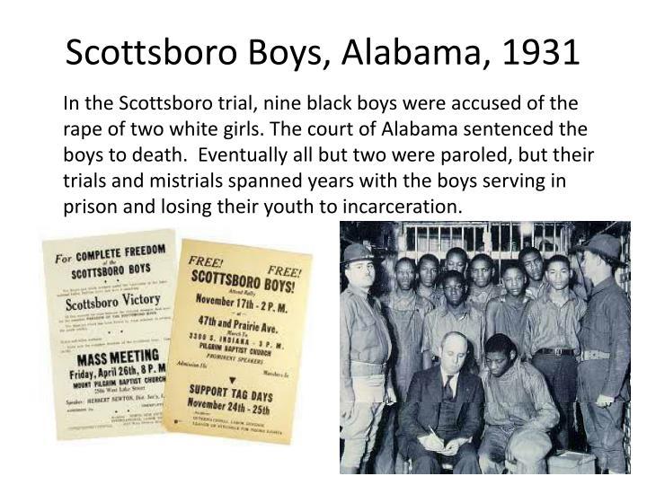 Scottsboro Boys, Alabama, 1931