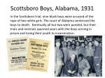 scottsboro boys alabama 1931