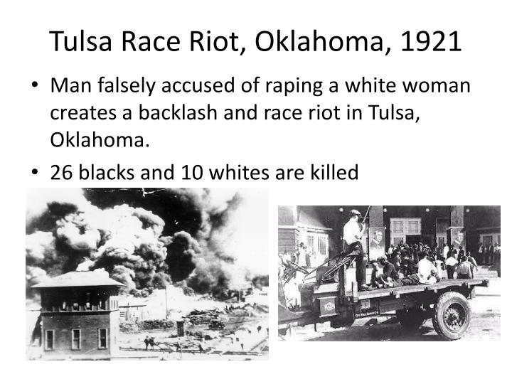 Tulsa Race Riot, Oklahoma, 1921