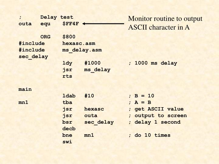 ;Delay test