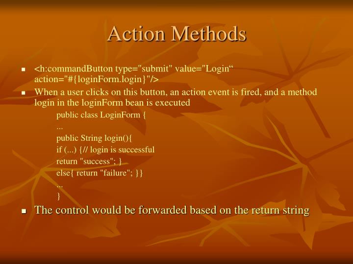 Action Methods
