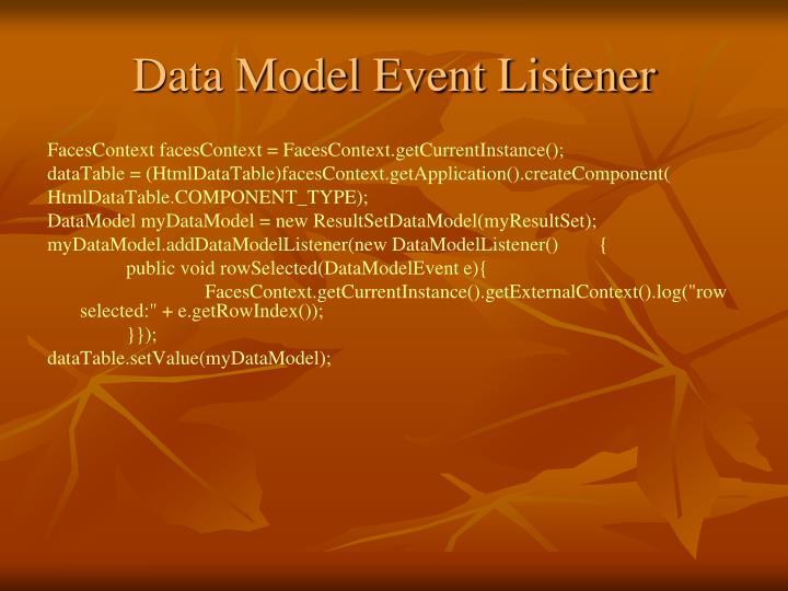 Data Model Event Listener