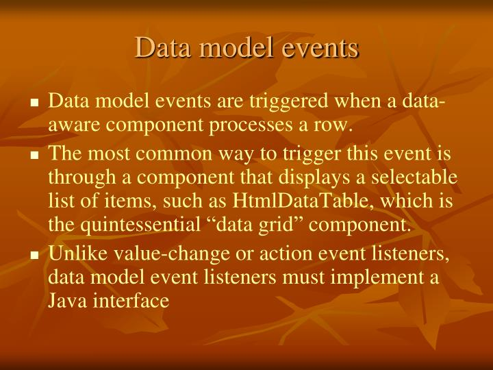 Data model events