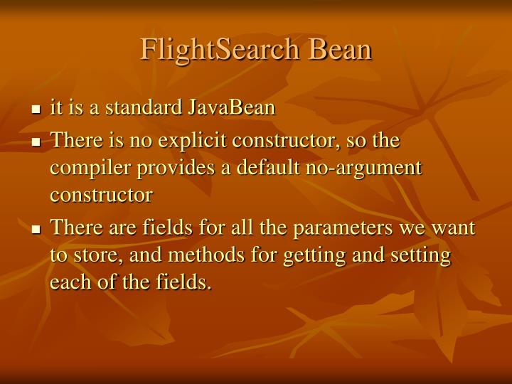 FlightSearch Bean