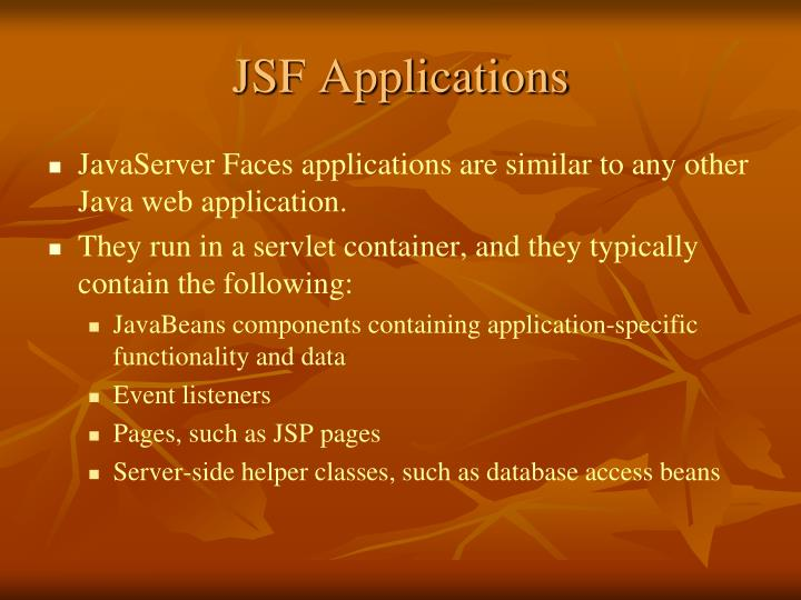 JSF Applications