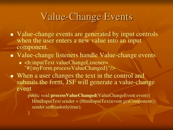 Value-Change Events