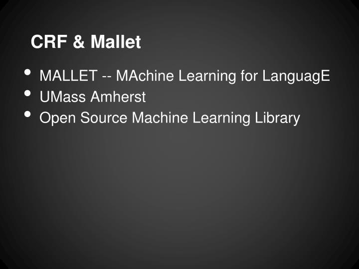 CRF & Mallet