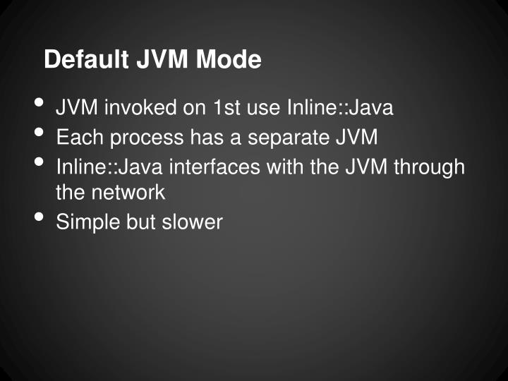 Default JVM Mode