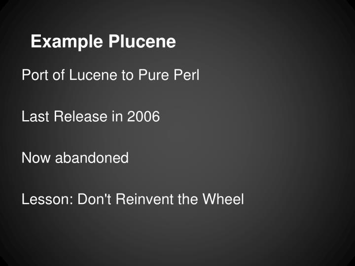 Example Plucene
