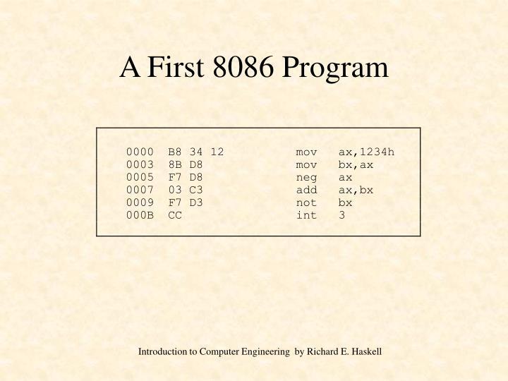 A First 8086 Program