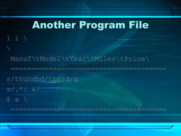 Another Program File