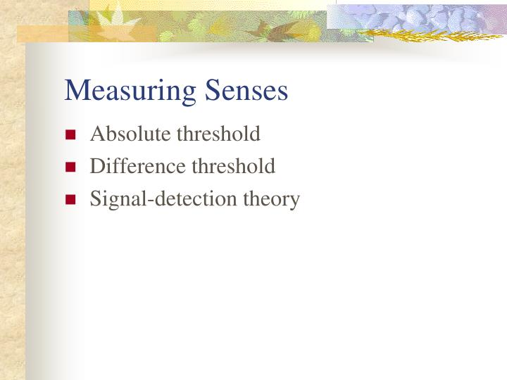 Measuring Senses