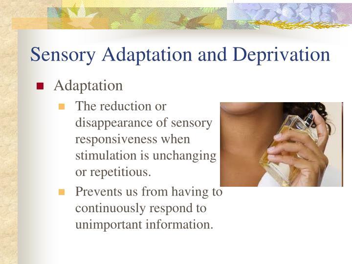 Sensory Adaptation and Deprivation