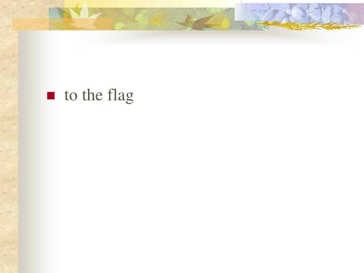 to the flag