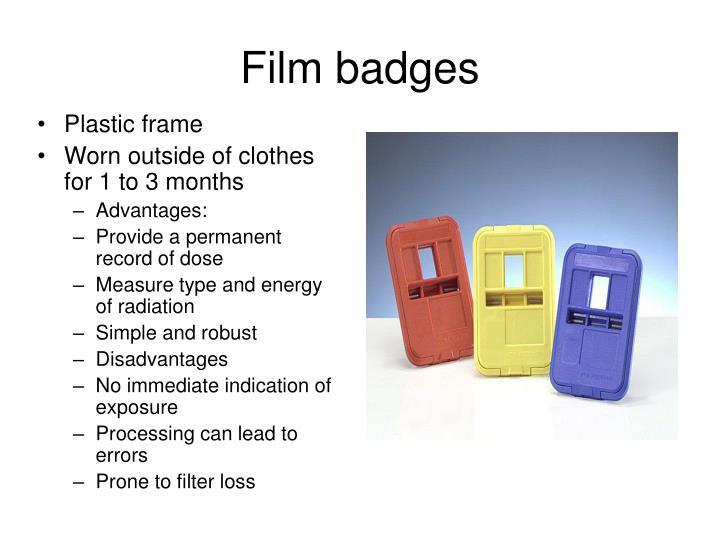 Film badges